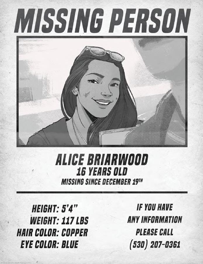Volantino per Alice is Missing