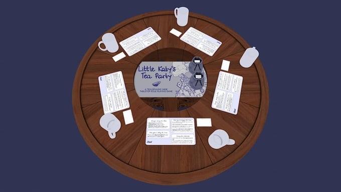 Il modulo di simulazione di Little Katy's Tea Party su Tabletop Simulator