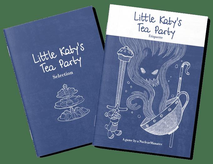 Le cover dei due manualetti di Little Katy's Tea Party
