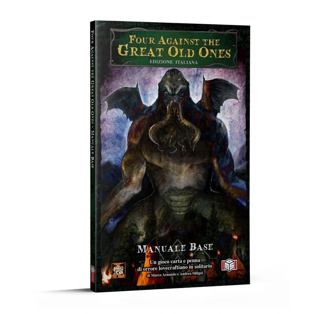 La copertina dell'edizione italiana di Four Against The Great Old Ones