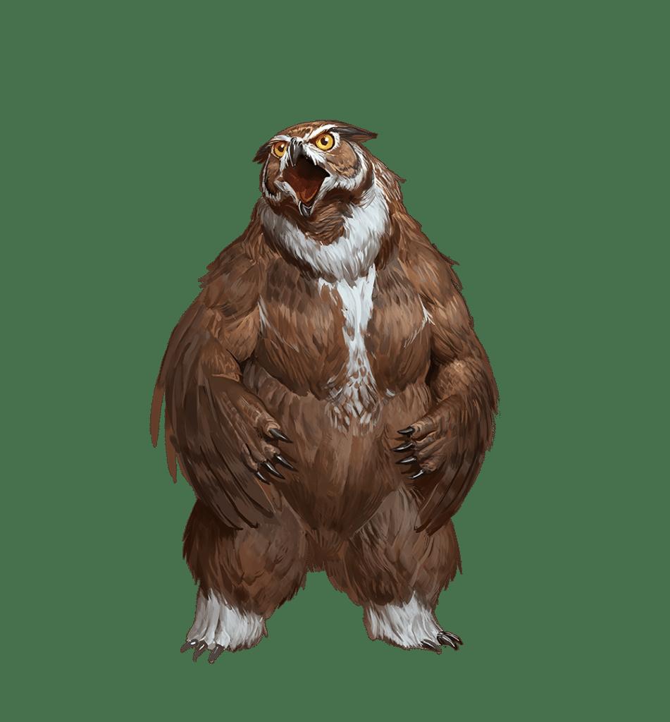 Un Orsogufo chonky di Pathfinder Seconda Edizione