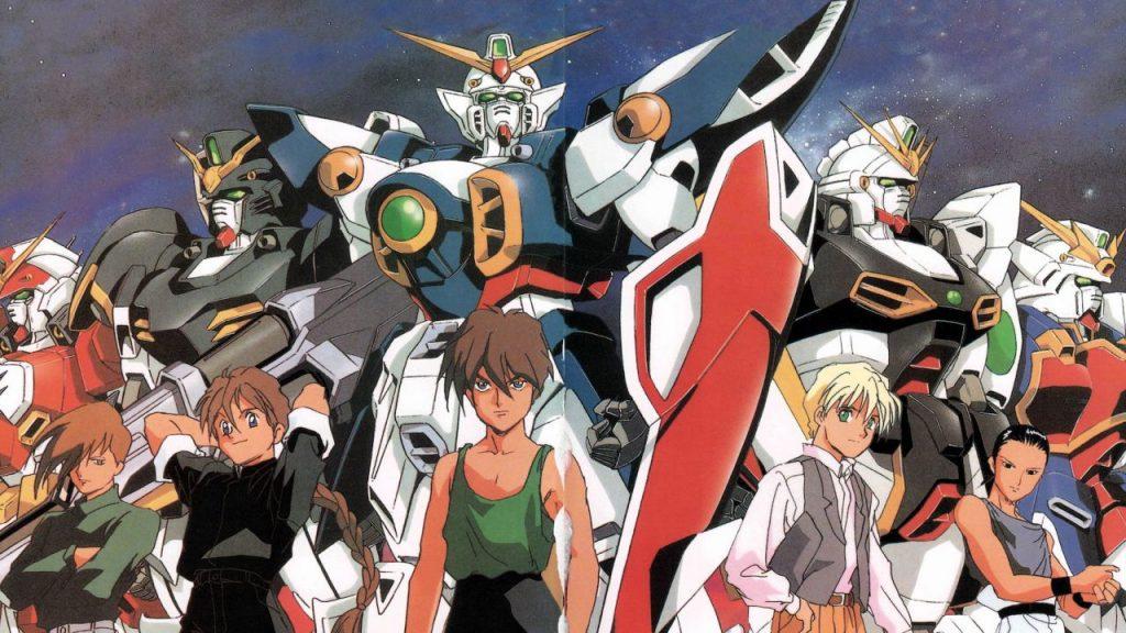 La boy band Il Gundam Team di Mobile Suit Gundam Wing, in cui ci si allontana dal genere real robot