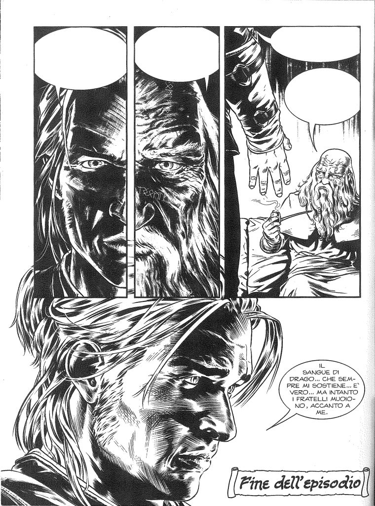 """La chiusura de Il sacrifico di Yannah per bocca di Ian è amaro: """"Il sangue di drago... che sempre mi sostiene... è vero... ma intanto i fratelli muoiono accanto a me."""""""