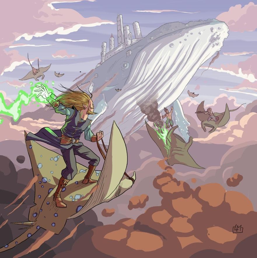 Una delle illustrazioni di Luca Maiorani per Fantasy World