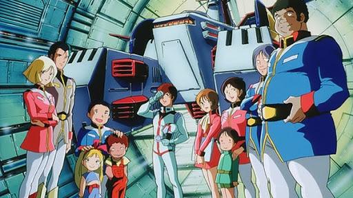 Il cast principale di Mobile Suit Gundam. Età media stimata: 17 anni.
