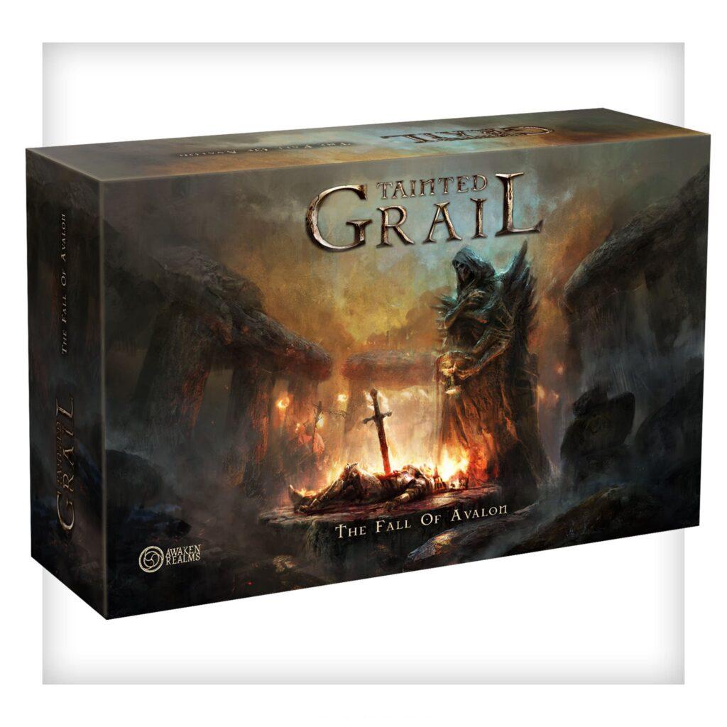 La scatola di Tainted Grail è enorme, infatti contiene un sacco di materiale