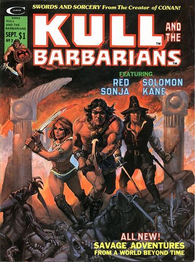 Copertina di Kull and the Barbarians, dove scopriamo le origini di Red Sonja