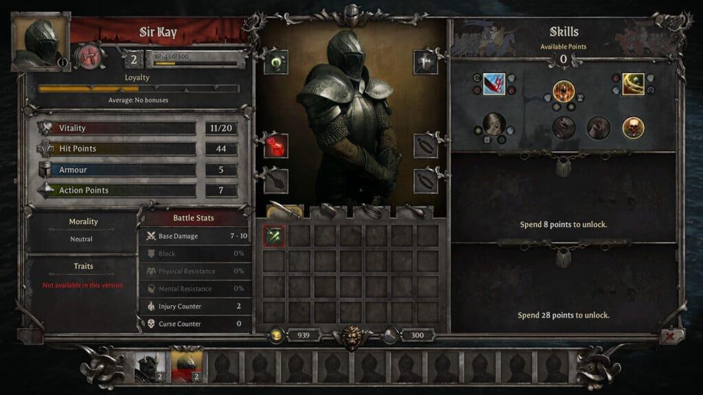 Sir Kay, che era il siniscalco di Artù, è il primo cavaliere che arruoleremo