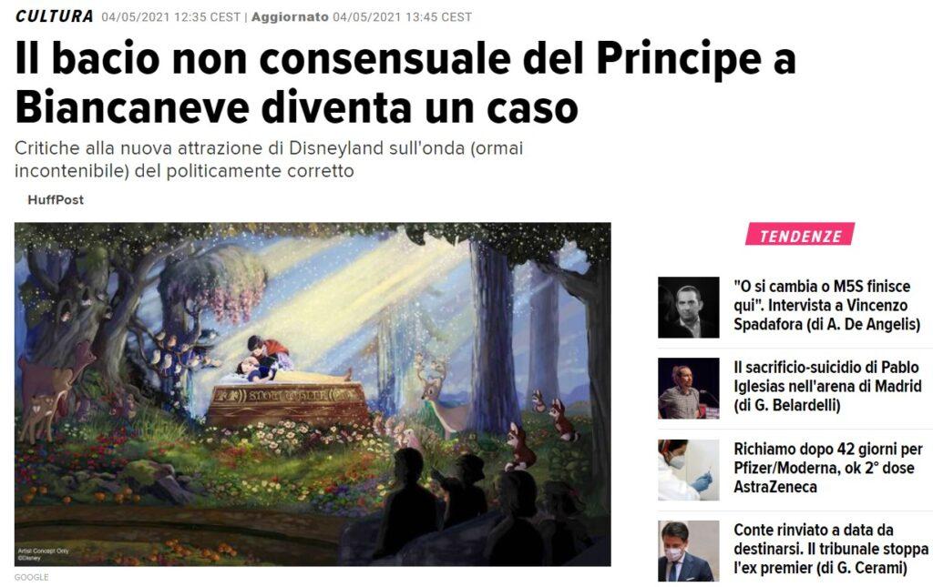 """L'articolo di Huffington Post su Biancaneve che divenne un """"caso"""""""