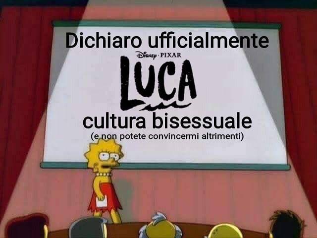 Il meme di Orgoglio Bisessuale su Luca