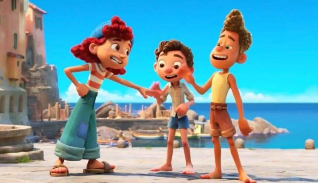 Il trio protagonista del film: Giulia, Luca e Alberto