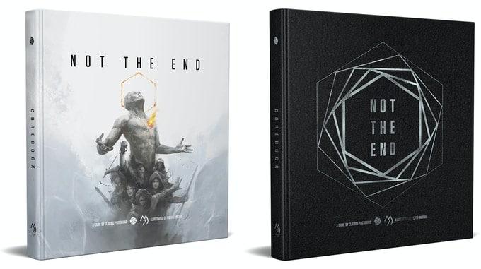 Il manuale di Not The End in inglese, in versione normale e in versione deluxe