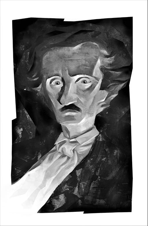 Ritratto di Edgar Allan Poe ad opera di Francesco Corli