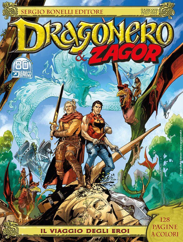 """Il viaggio degli eroi è la seconda, dopo """"Le gazze ladre"""", di tre uscite per la saga di Dragonero in questo mese di luglio 2021"""