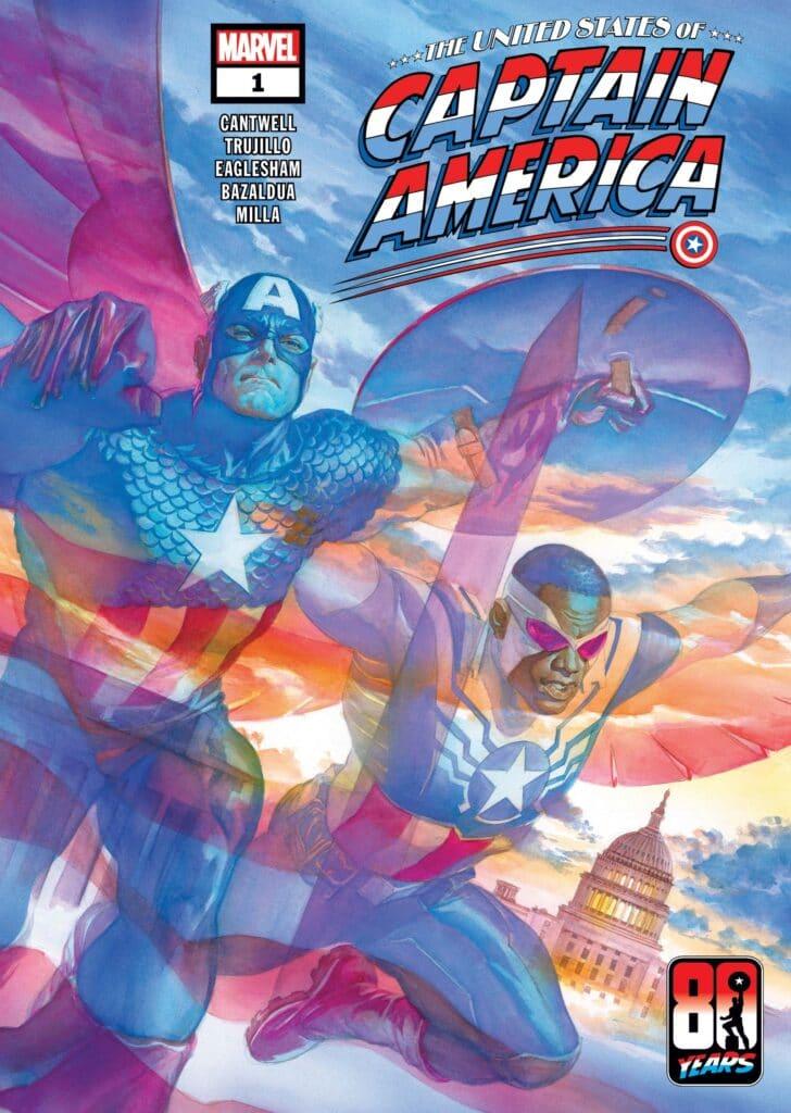 La copertina del primo numero di United States of Captain America