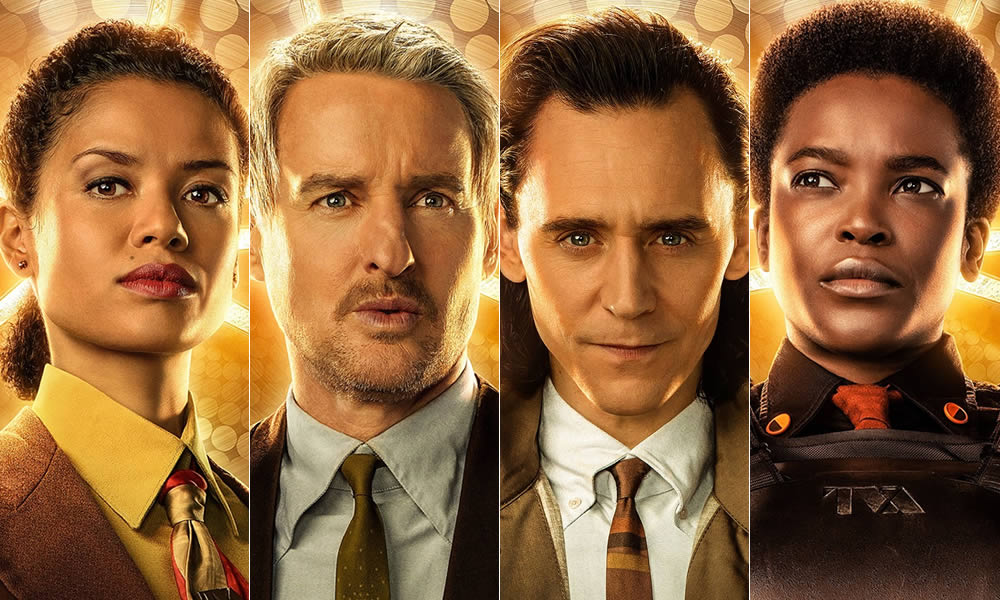 Da sinistra a destra, alcuni personaggi della serie: Ravonna Renslayer, Mobius M. Mobius, Loki e Hunter B-15