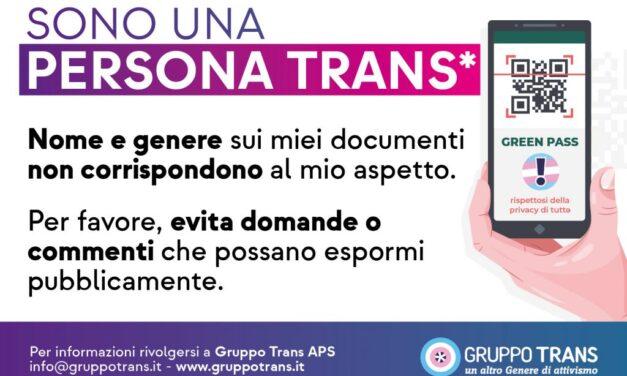 Persone trans e Green Pass: come evitare l'outing? Suggerimenti per fiere e locali ludici