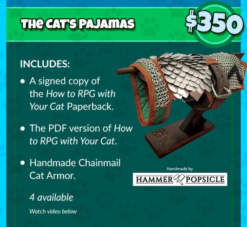 Le armaturine da gatto di How to RPG with Your Cat