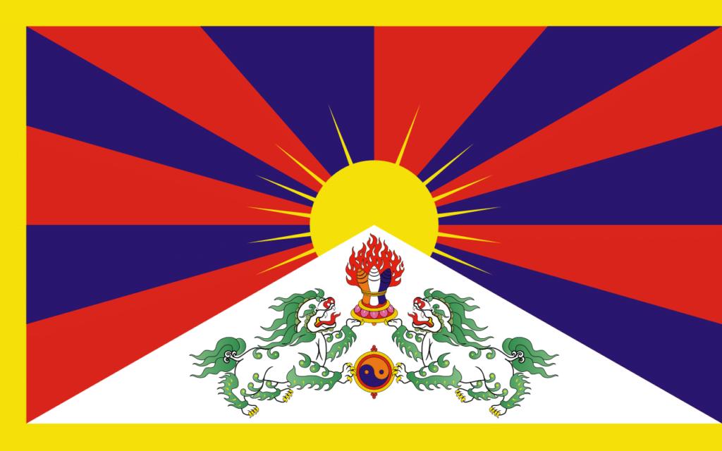 La bandiera del Tibet