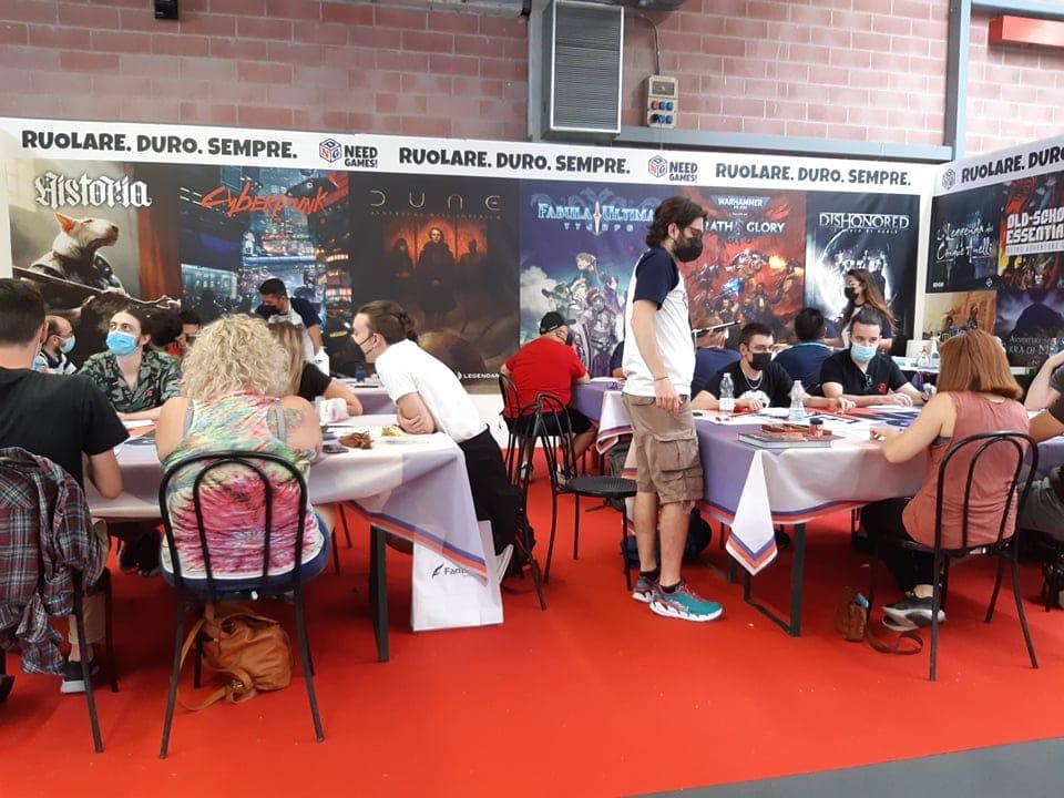 Lo stand di Need Games al Modena Play 2021, domenica