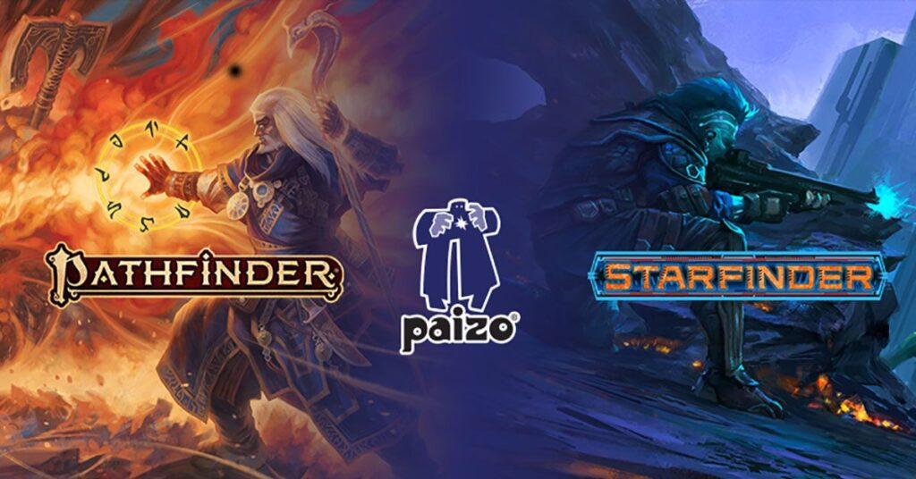 I due maggiori giochi di ruolo della Paizo: Pathfinder e Starfinder