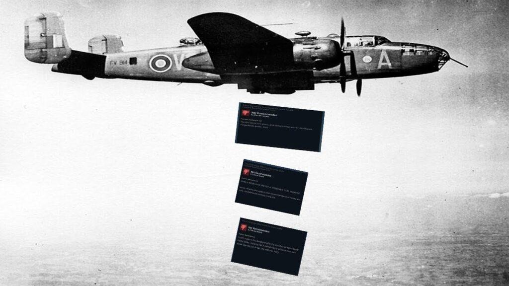 Una rappresentazione evocativa del review bombing, fatta da Everyeye in questo articolo