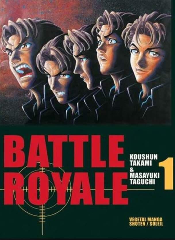 Copertina del primo volume di Battle Royale, capostipite del genere survival game nei manga